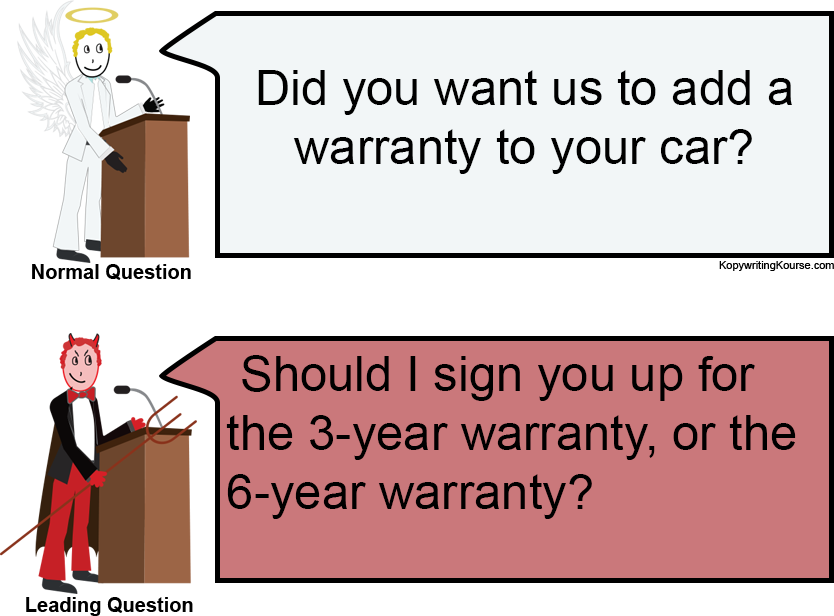 leading question in sales warranty