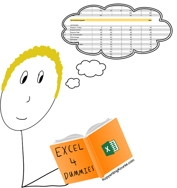 learning excel for dummies