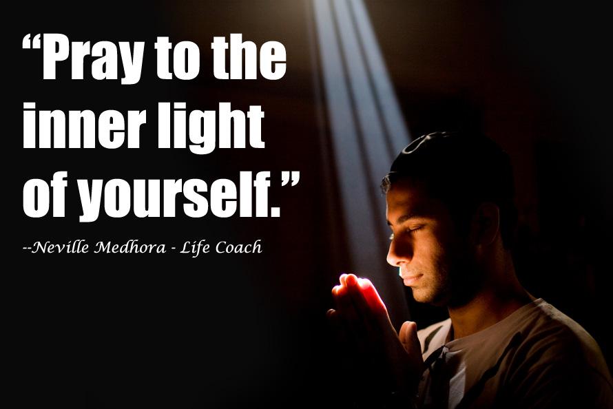 life coach praying