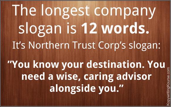 Longest Company Slogan Length