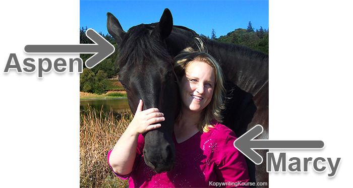 marcy and aspen the horse