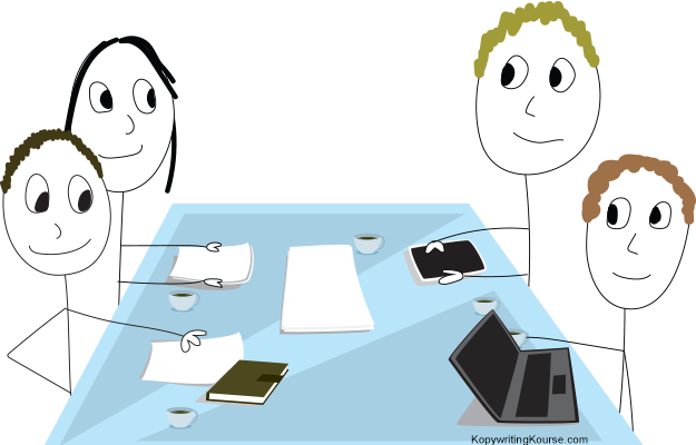 meeting around table
