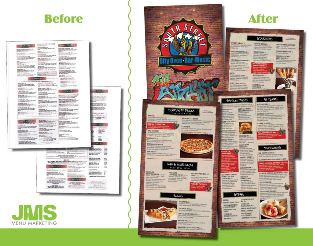how to make a better restaurant menu  with ideas