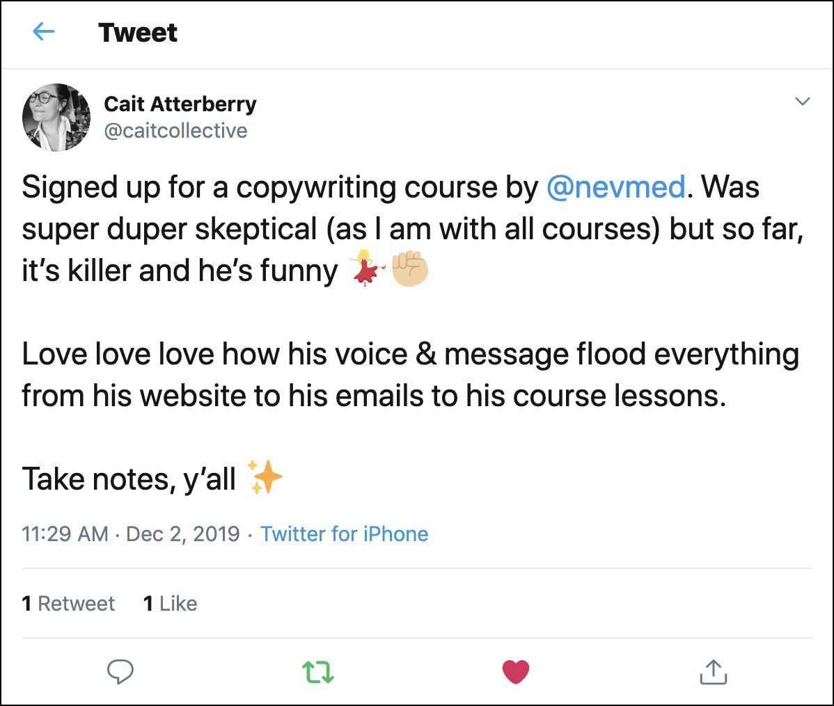 nev twitter review