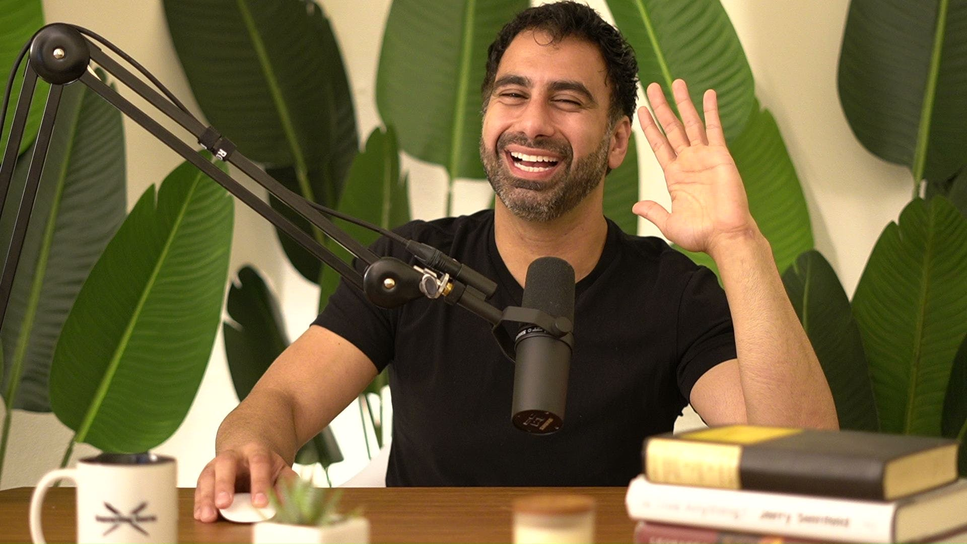 nev in his jungle office