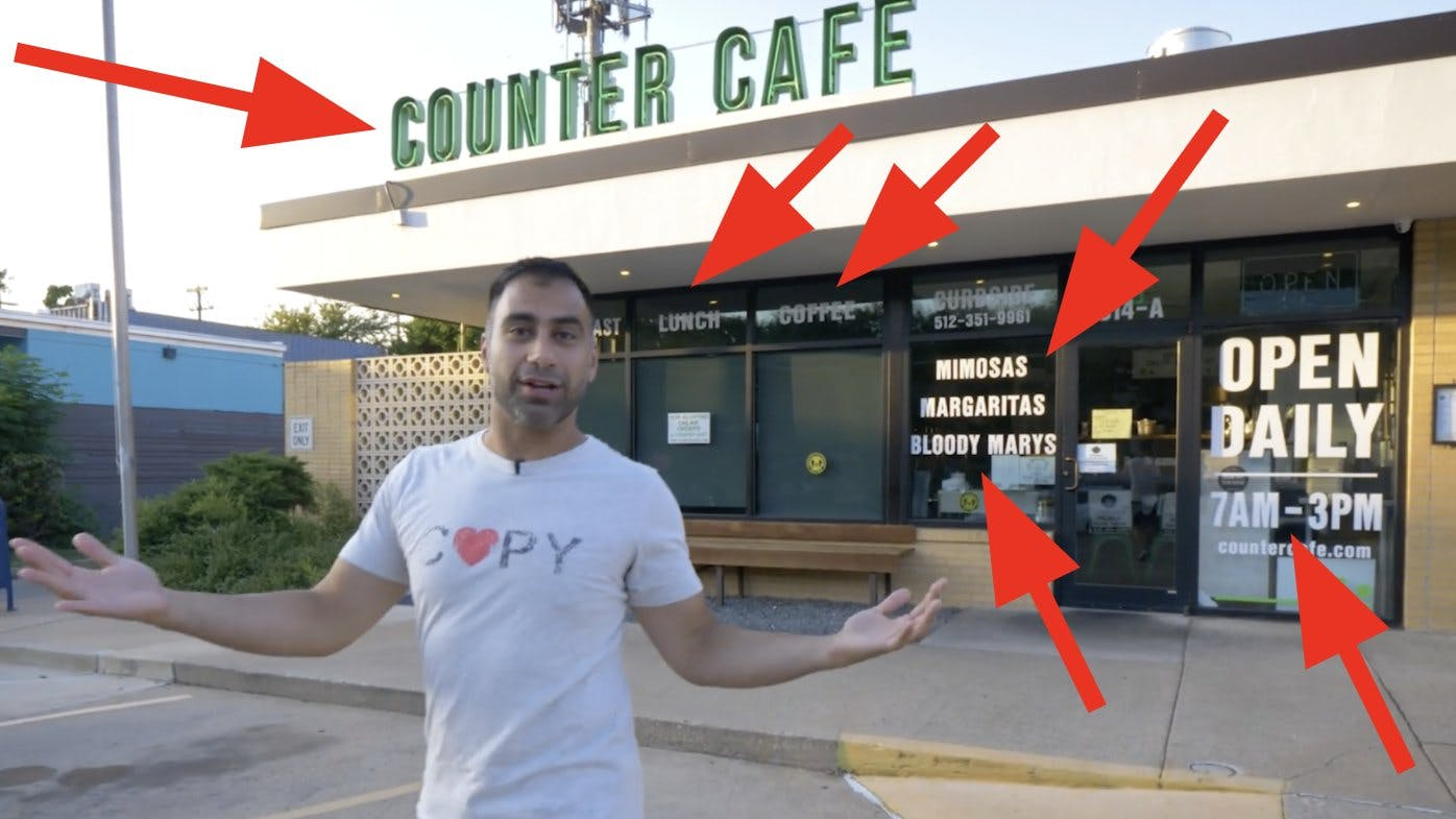 nev in front of counter cafe