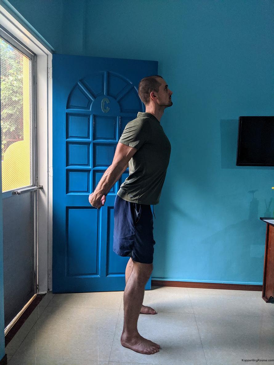no wall pec stretch