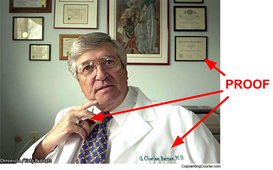 not a real doctor social proof