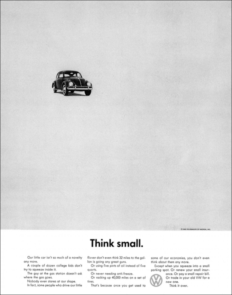 olgivy think small car ad