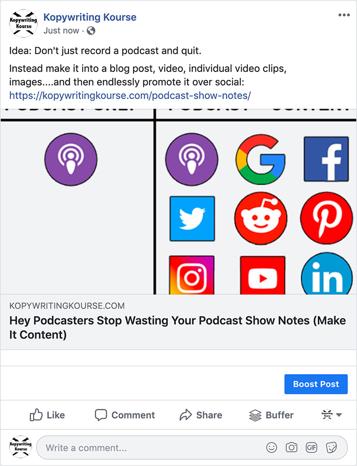 podcast strategy facebook