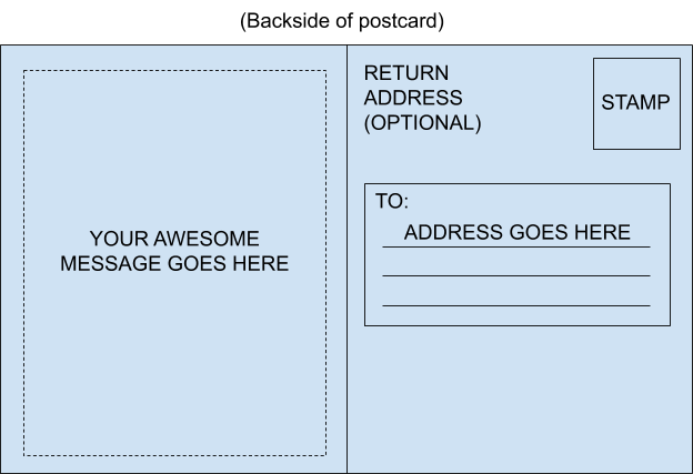 How to write a postcard that'll earn you mad brownie points