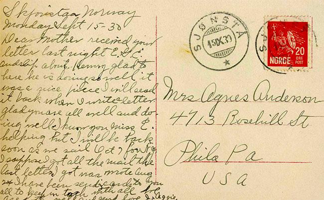 write a short postcard message