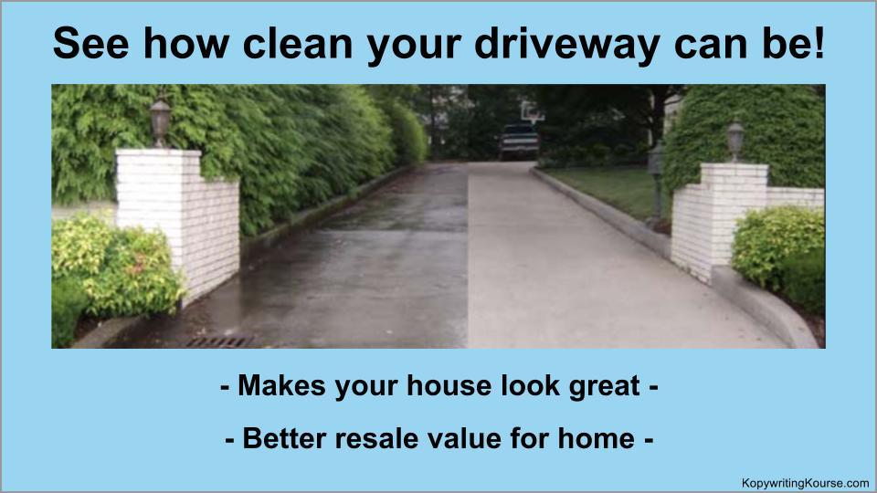powerwashing driveway image-example