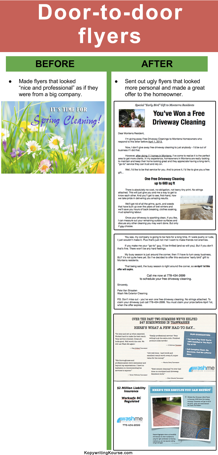 copywriting case studies examples of companies doing copywriting powerwashing flyers case study