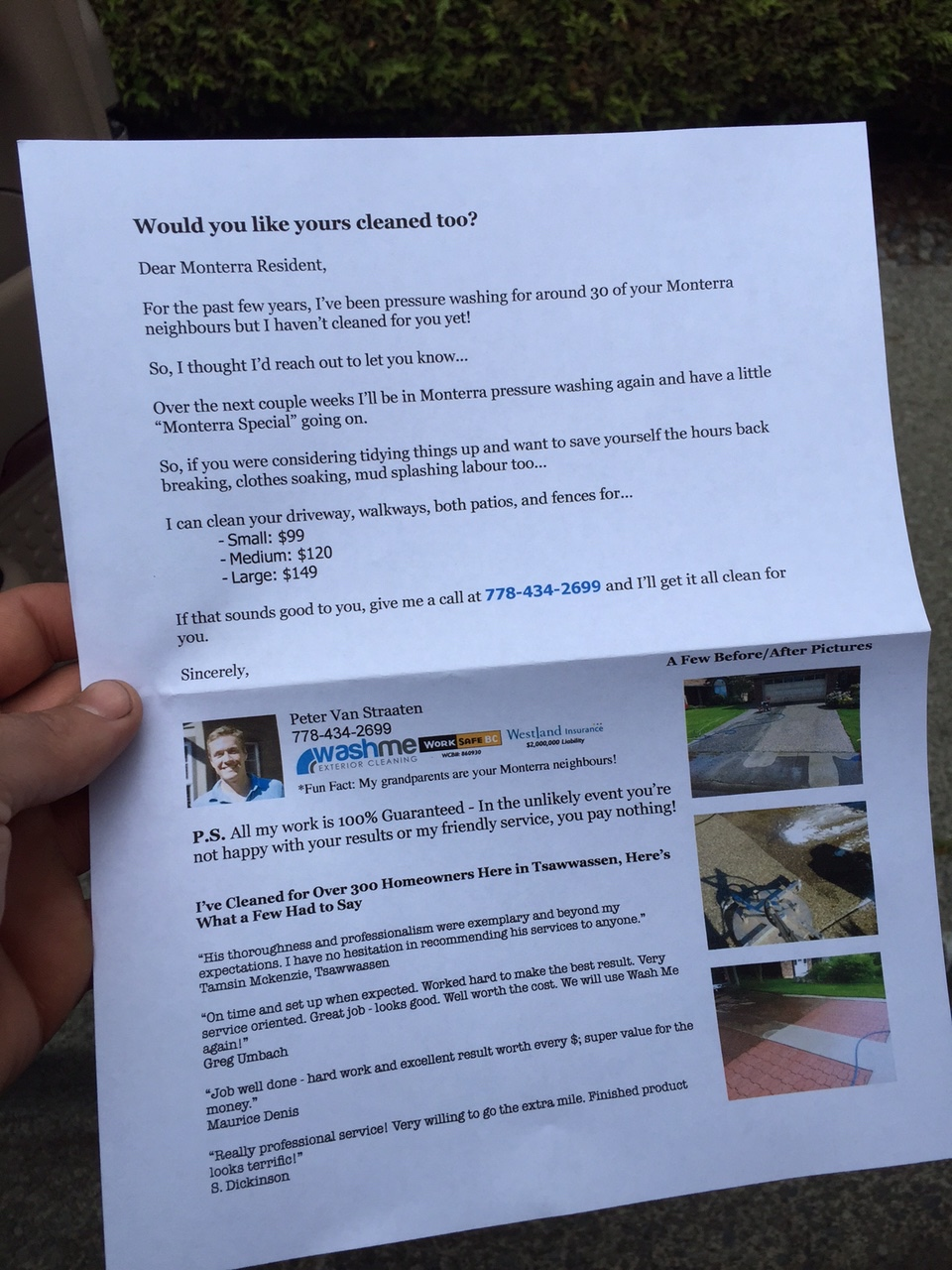 powerwashing flyers took business from title powerwashing flyers