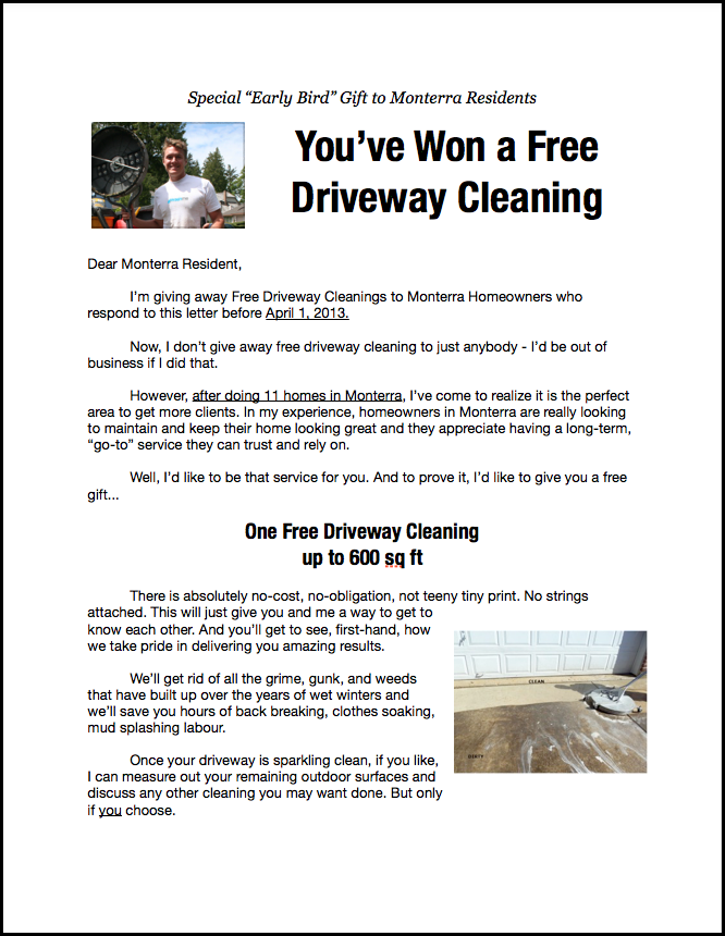 Powerwashing Flyers Took Business From Title Powerwashing