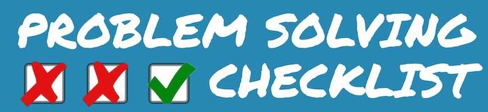 problem-solving-checklist
