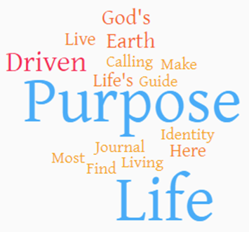 purpose of life word cloud