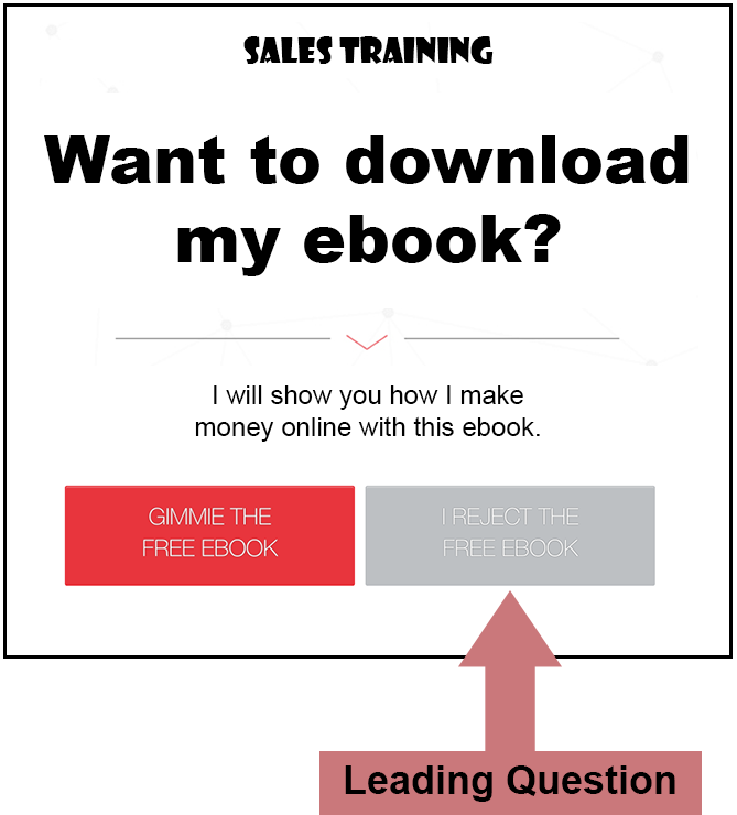 sales training leading question