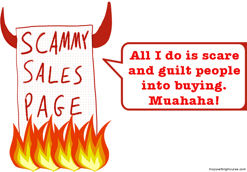 Scammy Sales Page