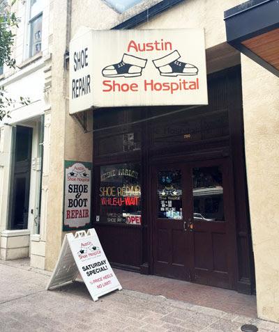 Shoe hospital in Austin downtown