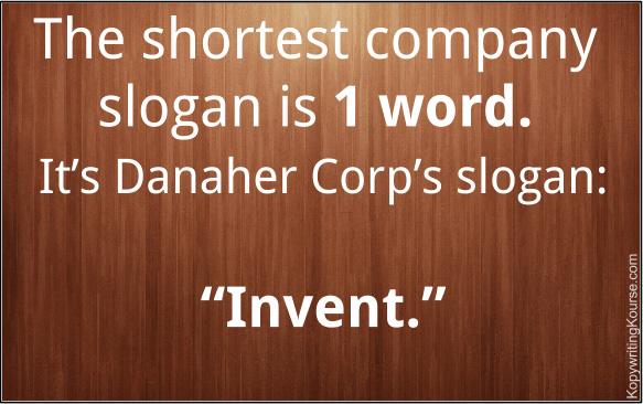 Shortest Company Slogan Length