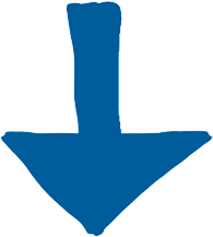 single blue down arrow
