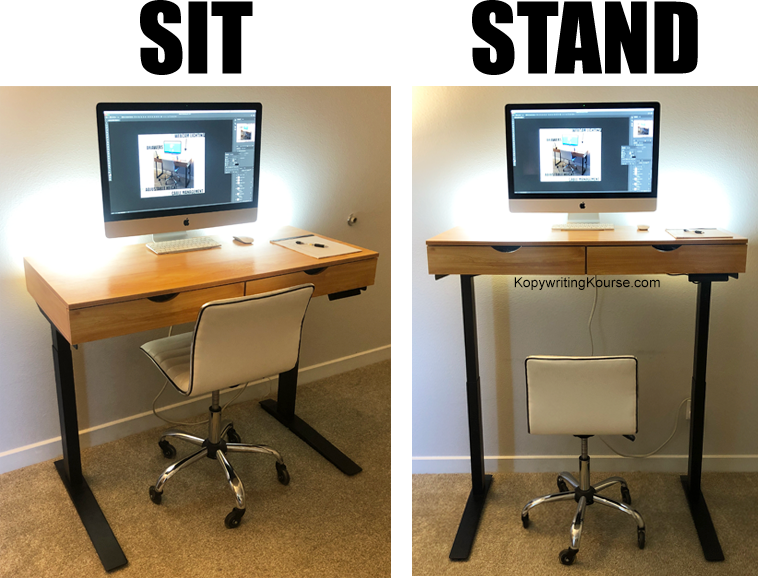 sit stand desk before after