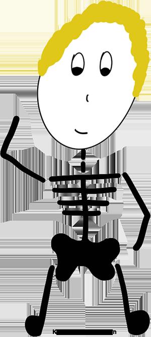 skeleton outline guy