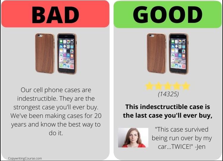 social proof good vs bad