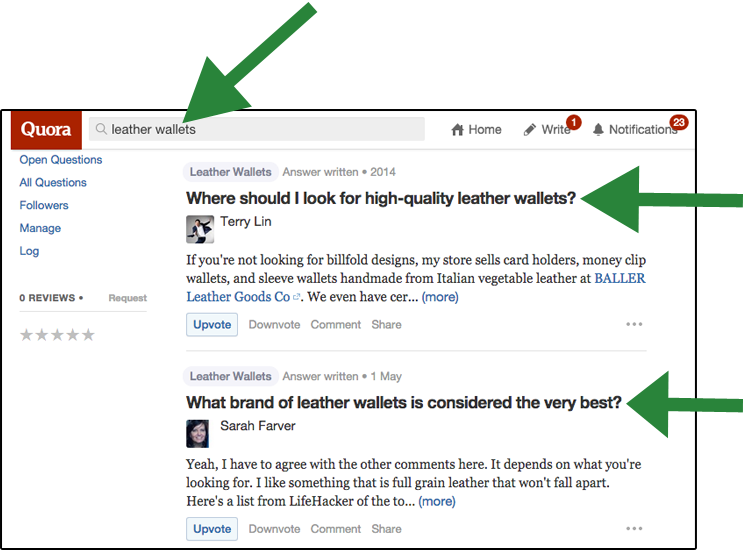 Using Quora for Headlines