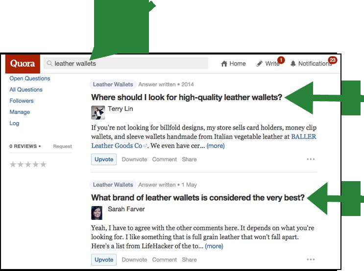 Using Quora for Headlines