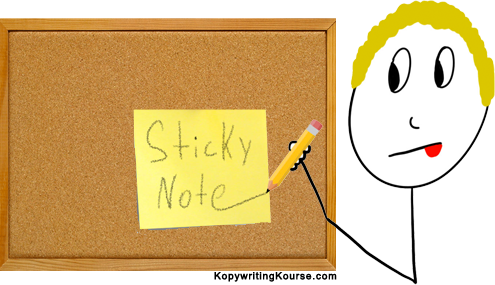 Sticky notes writing
