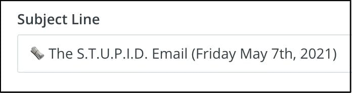 subject line stupid email