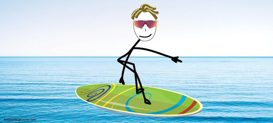 surfing a big market wave but no wave