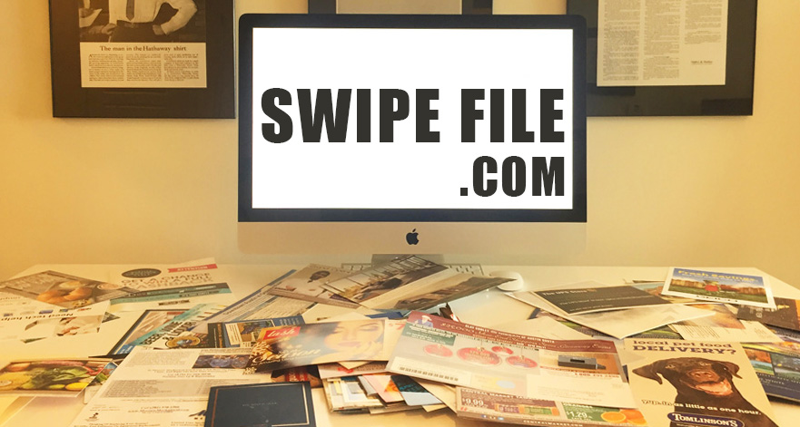 Swipe file folder and files