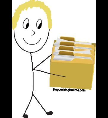 swipe file folders box