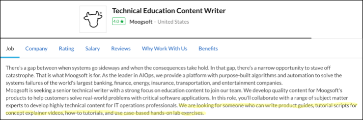 technical education content writer