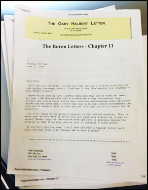 The boron letters  by Gary Halbert Printed