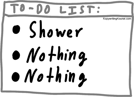 To list nothing shower