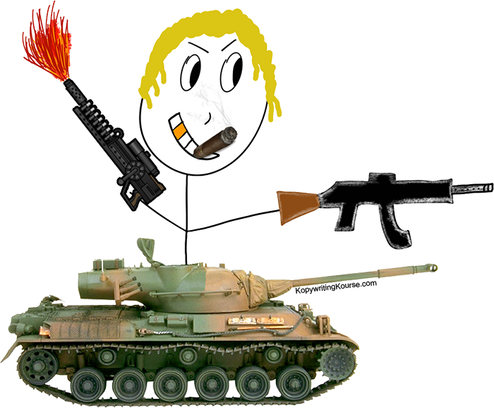 triple threat guy with tank and gun and flamethrower