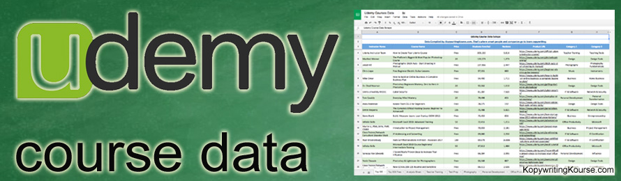 udemy course data