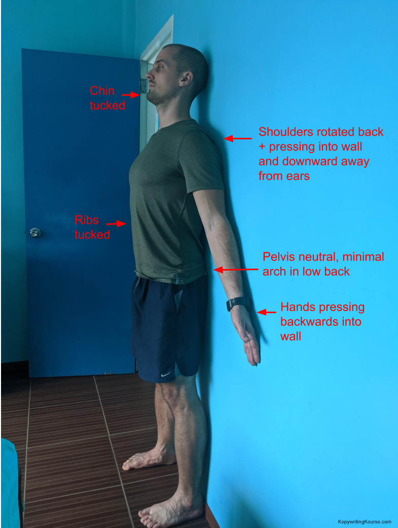 wall posture exercise