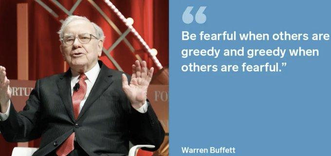 warren buffet fearful quote