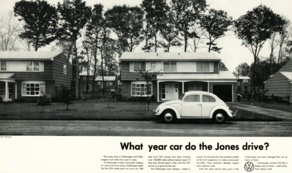 what car do the jones drive vw ad