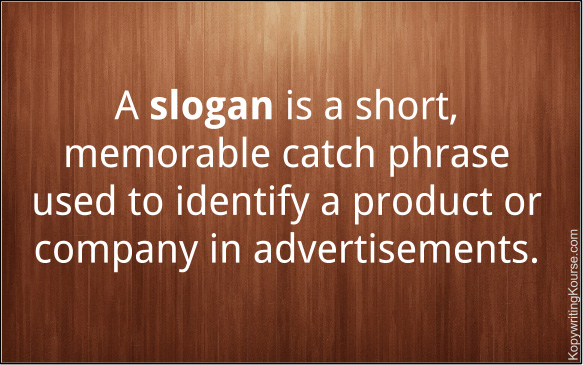 What is a slogan definition