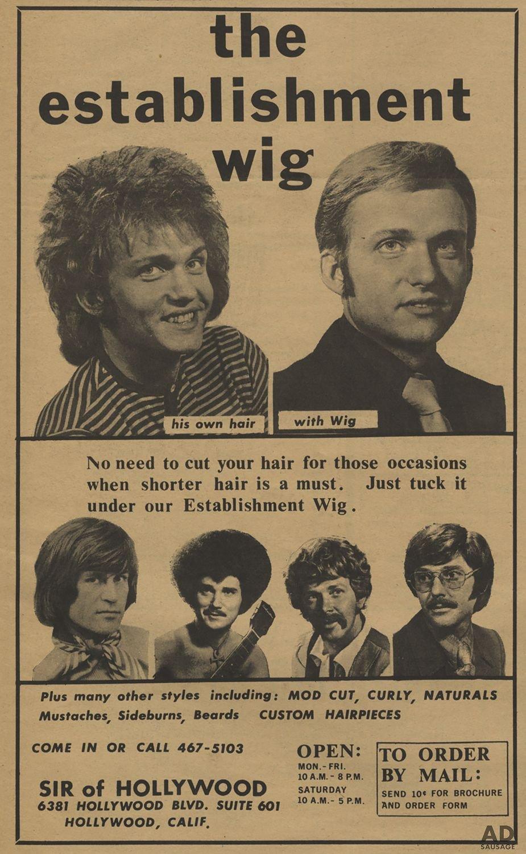 The establishment wig print ad