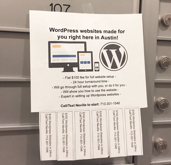 wordpress flyer posted