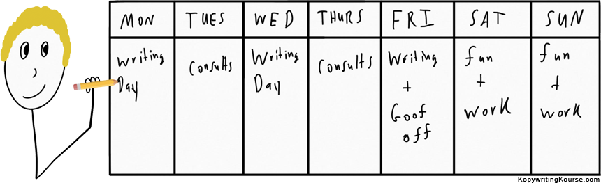 Working from home schedule